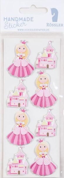Sticker, Prinzessin mit Schloss