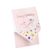 Happy Birthday Karte.Pocketfold Karte Happy Birthday Fahrrad