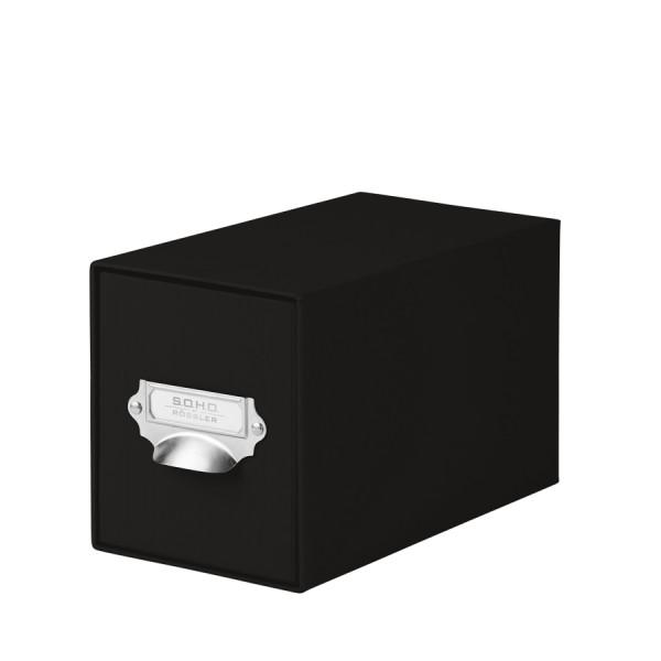 1er Schubladenbox für CDs, Schwarz