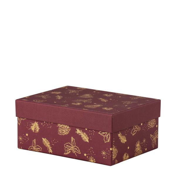 Box, L, Weihnachten, Gold/Rot