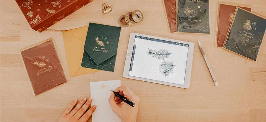 weihnachten-brief-schreiben-karte-kalligrafie-fuellfeder-ipad-illustration-produktdesign