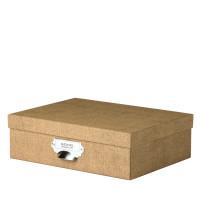 Aufbewahrungsbox mit Griff, Haselnuss/Braun