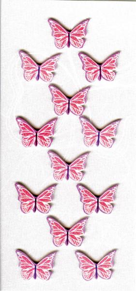 Sticker, Schmetterlinge, Rosa
