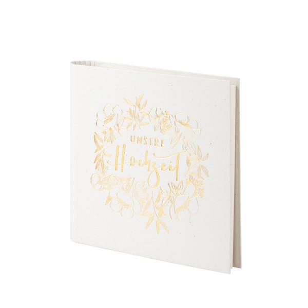 Fotoalbum nachfüllbar, Hochzeit, Gold