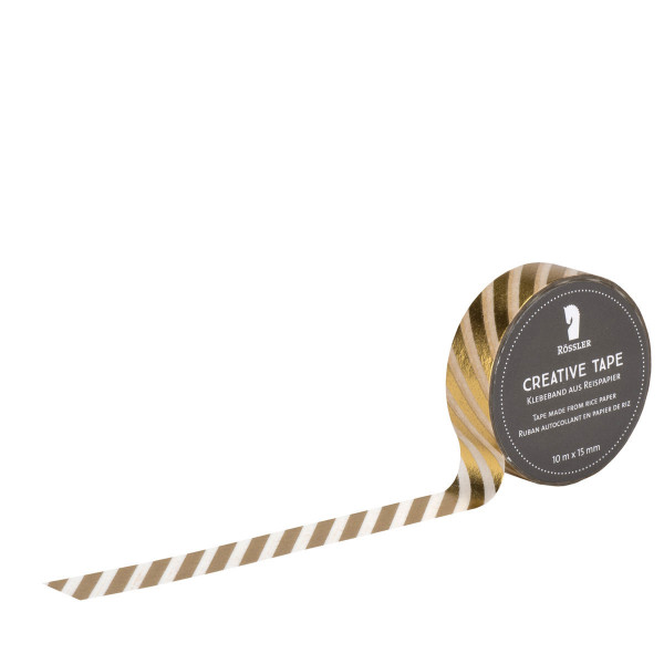 Washi Tape, Querstreifen, Gold