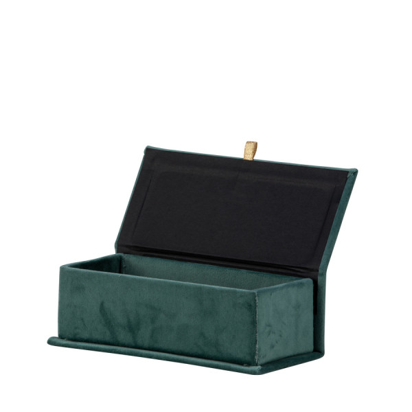 Klappbox S, Samt, Grün