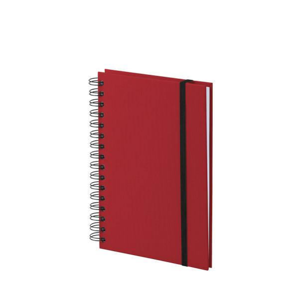 Notizbuch A5 mit Gummizug, Rot