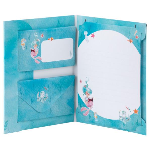 Kinder-Briefpapier, Meerjungfrau