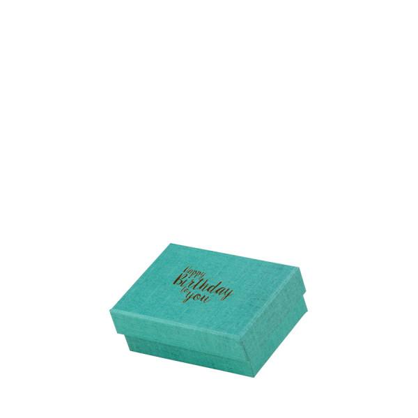 """Box """"Happy Birthday"""", klein, Türkis"""