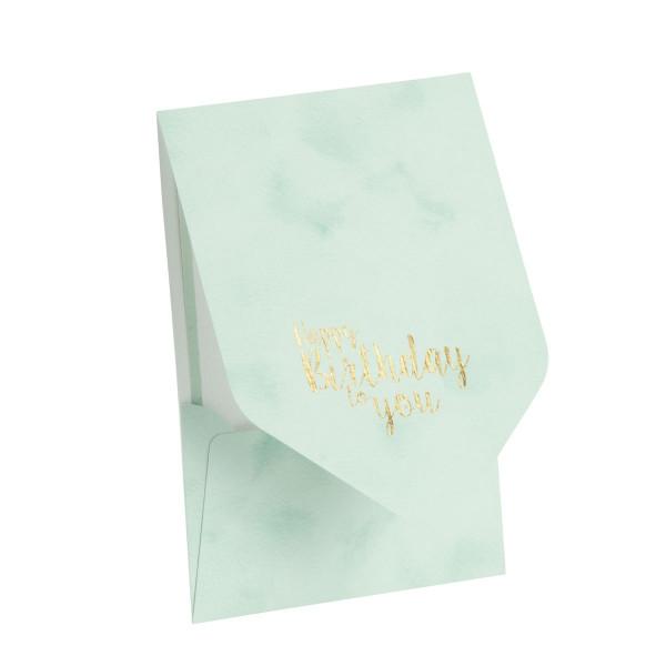 Pocketfold-Karte, Happy Birthday, Mint