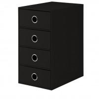4er Schubladenbox für A5, Schwarz