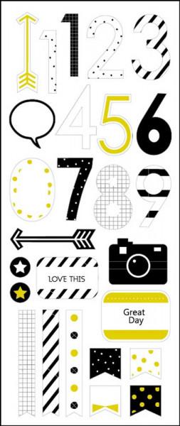 Sticker, Zahlen