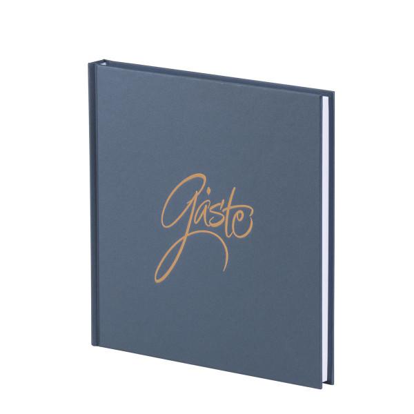 Gästebuch, Navy/Blau Metallic