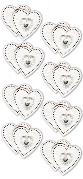 Sticker, Doppel-Herz