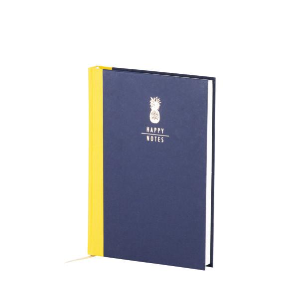 Notizbuch A5, goldene Ananas