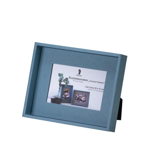 Bilderrahmen für Fotos 10x15 cm, Denim/Blau
