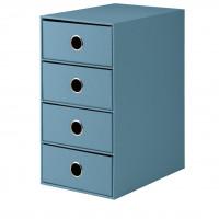4er Schubladenbox für A5, Denim/Blau