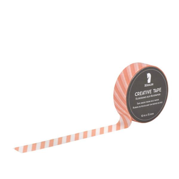 Washi Tape, Querstreifen, Apricot