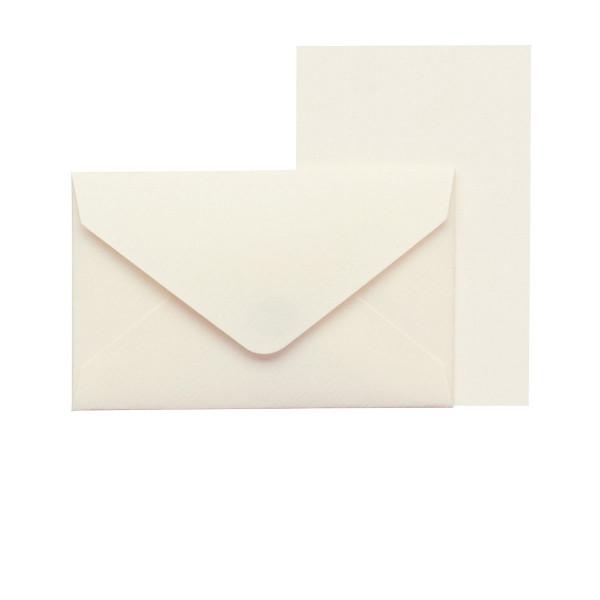 Mini-Karten mit Briefumschlag, Creme