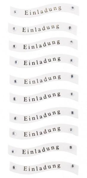 Sticker, Einladung