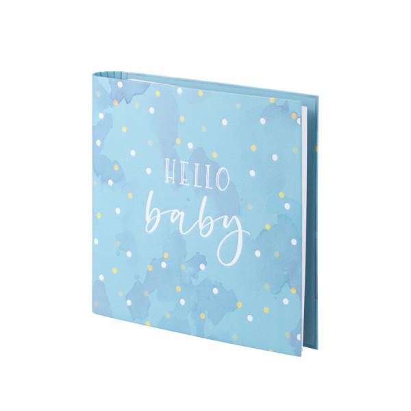 Fotoalbum nachfüllbar, Hello Baby, Blau