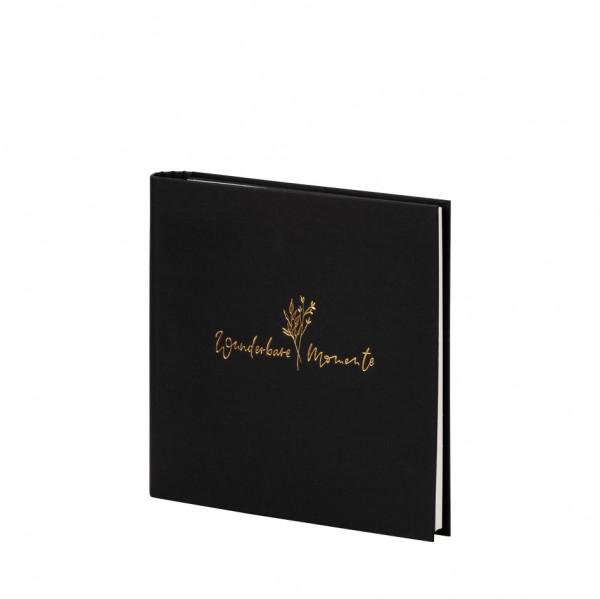 Gäste-/Fotoalbum, wunderbare Momente, Natura Schwarz