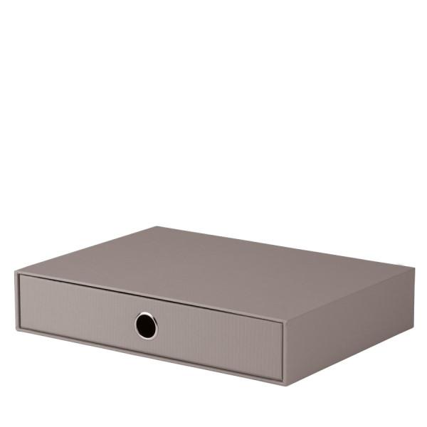 1er Schubladenbox für A4, Taupe