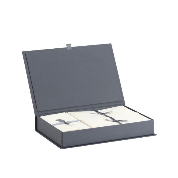 Briefpapierkassette Bütten, Grau