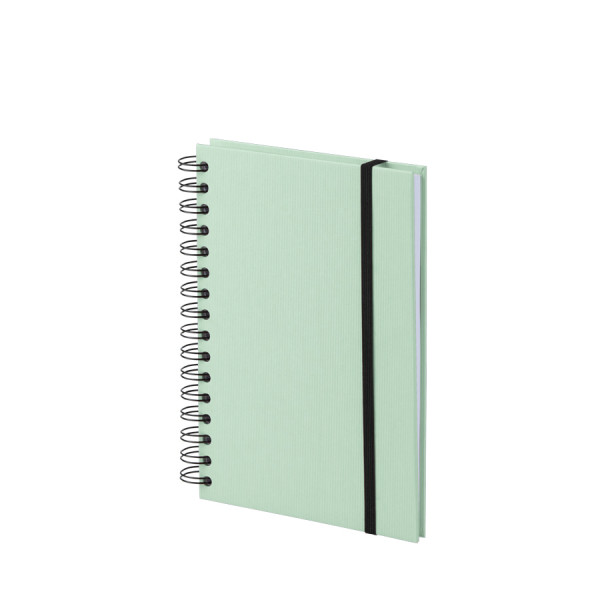 Notizbuch A5 mit Gummizug, Mint
