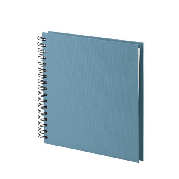 Fotoalbum L mit Spiralbindung, weiße Seiten, Denim/Blau