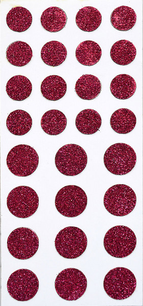Sticker, Glitter Punkt, Pink