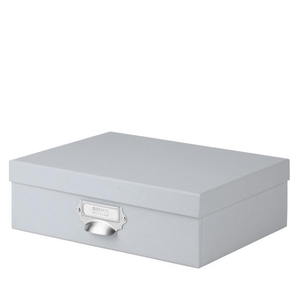 Aufbewahrungsbox mit Griff für A4, Stone/Grau