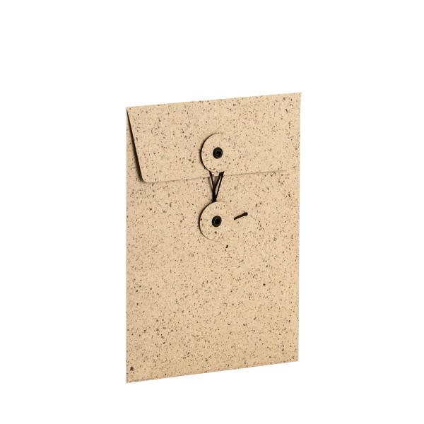 Button String Umschlag, B6, Cacao