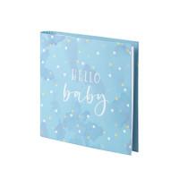 Fotobuch nachfüllbar, Hello Baby, Blau