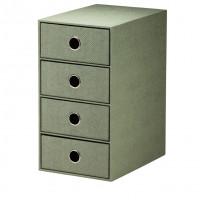 4er Schubladenbox für A5, Salbei/Grün