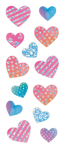 Sticker, Herzen Neon