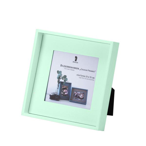 Bilderrahmen für Fotos 13x13 cm, Mint