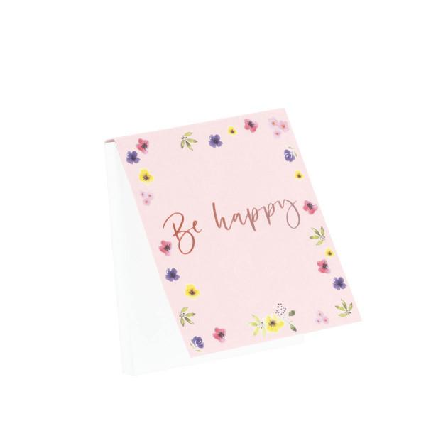 """Notizblöckchen """"Be happy"""""""