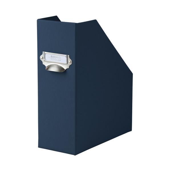 Stehsammler mit Griff für A4, Navy-Blau