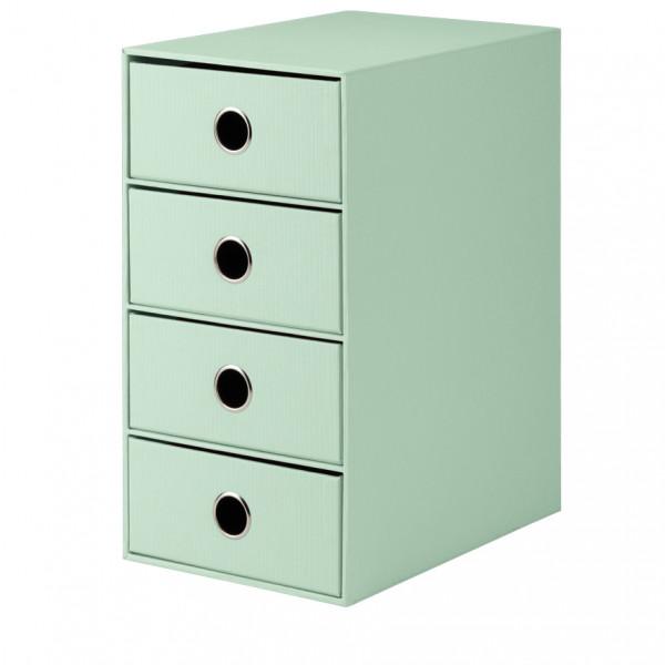 4er Schubladenbox für A5, Mint
