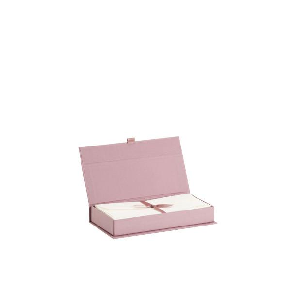 Kartenkassette Bütten, Rosa