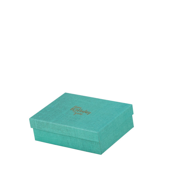 """Box """"Happy Birthday"""", groß, Türkis"""