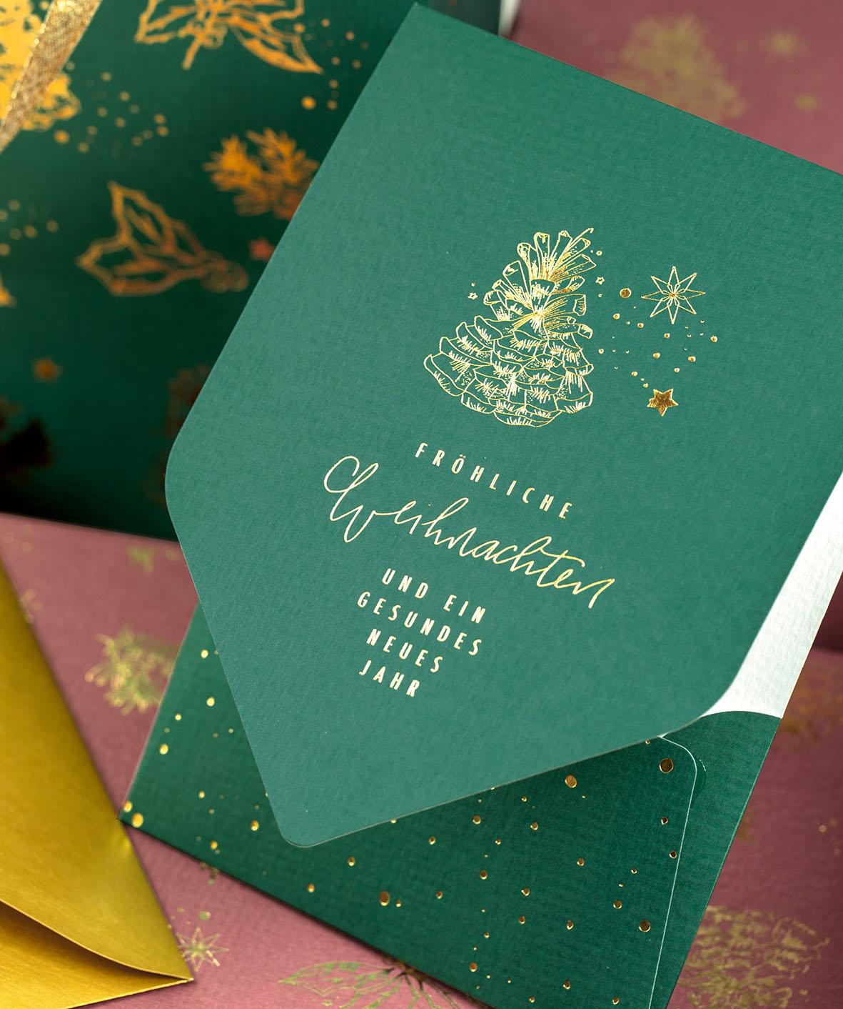 weihnachten-karte-goldenchristmas-geschenktuete-roessler