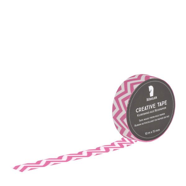 Washi Tape, Zickzack, Pink