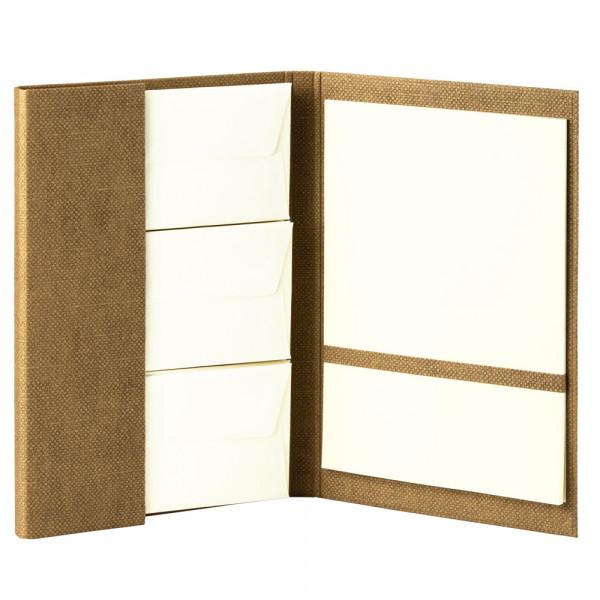 Briefpapiermappe A4, Haselnuss / Braun