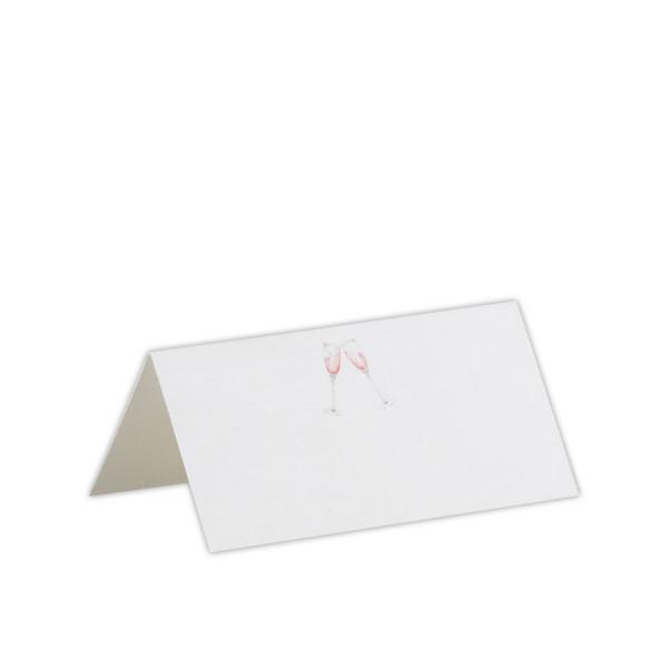 Tischkarten, Sektgläser
