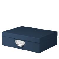 Aufbewahrungsbox mit Griff für A4, Navy/Blau