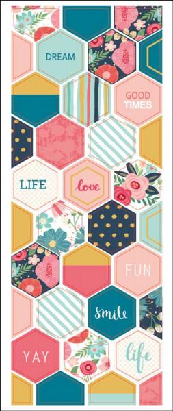 Sticker, Sechseck, Life