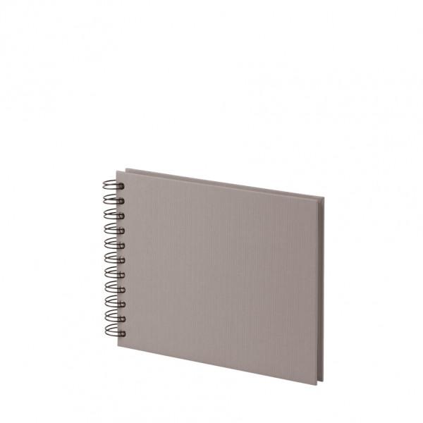 Fotoalbum S mit Spiralbindung, weiße Seiten, Taupe