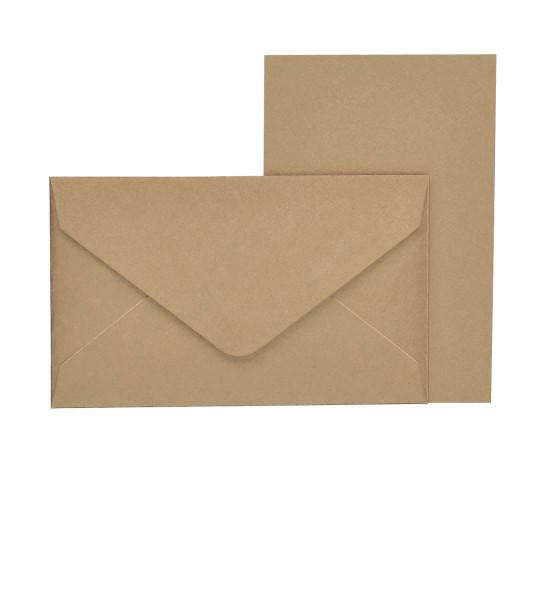 Mini-Karten mit Briefumschlag, Kraft